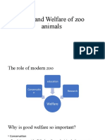 Care and Welfare of Zoo Animals