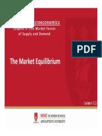 ECO2201_Slides_2.2_The Market Equilibrium