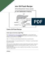 Castor Oil Flush Recipe