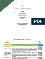 CRONOGRAMA Y FORMATO DE ACTIVIDADES