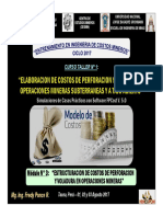 Módulo 3 - ESTRUCTURACION DE COSTOS PERFORACION Y VOLADURA EN OPERACIONES MINERAS (01-Ago-17)