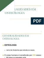 GENERALIDADES EM OSTEOLOGIA