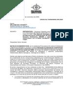 Oficio Procuraduría Ambiental - Noviembre 3 de 2020