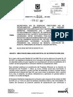 Directiva 006 de 2020 DIRECTRICES SIMULACRO DISTRITAL DE AUTOPROTECCION 2020 (1)