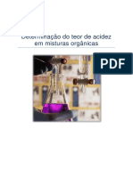 Relatorio determinação do teor de acidez em misturas organicas I