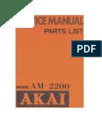 Akai-AM2200 amp
