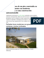 Planos de casa de un piso construida en el campo