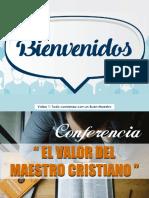 VALOR DEL MAESTRO CRISTIANO