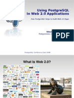 Using PostgreSQL In Web 2.0 Applications