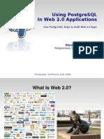 Using PostgreSQL In Web 2.0 Applications