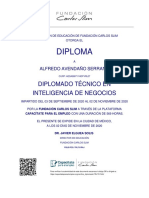 Diploma - Diplomado Técnico en Inteligencia de Negocios_AvendañoSerranoAlfredo
