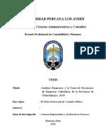 analisi financiero toma de desiciones de empresas cafetaleras 2018