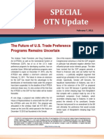 OTN Special Update - (the Future of US Trade Preferences) 2011-02-07