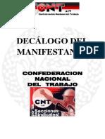 27.- CNT. Decalogo del Manifestante
