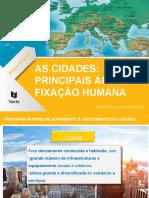 As_cidades__principais_áreas_de_fixação_humana