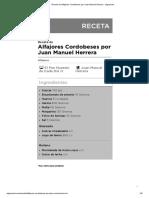 Receta de Alfajores Cordobeses por Juan Manuel Herrera