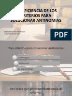 INSUFICIENCIA DE LOS CRITERIOS PARA SOLUCIONAR ANTINOMIAS.pptx