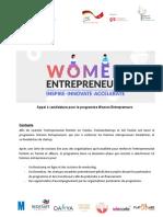 Appel à candidature- Women Entrepreneurs