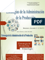 Estrategias de Administracion de la producción