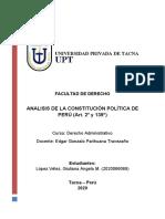 ANÁLISIS DE LOS ARTÍCULOS 2º Y 139º DE LA CPP