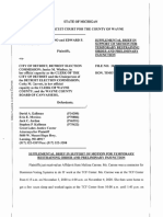 Costantino Et Al v City of Detroit Et Al - Supplemental Affidavit - 11-10-2020