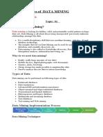 DATA MINING Notes (Upate)
