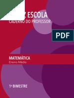 Caderno do professor - 1ª série do Ensino Médio - 1º bimestre