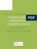 Guía de tratamiento del trastorno obsesivo compulsivo en niños y adolescentes
