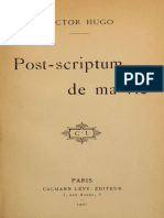 Post-scriptum de ma vie by Victor Hugo (french)