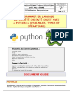 Programmer avec python-les variables (1)