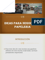 IDEAS PARA NEGOCIOS DE PAPELERIA