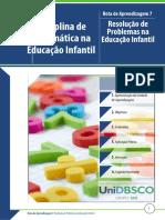 Matemática Na Educação Infantil - Rota 7 - Resolução de Problemas Na Educação Infantil