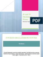 4th and 5th Declension Nouns