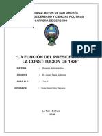 Funcion del Presidente del la Republica 1826.pdf