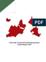 University Council of Social Entrepreneurs - Annual Report 2007