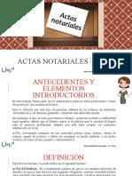 reseña de ACTAS NOTARIALES