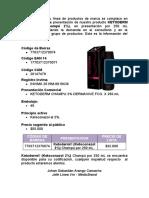 Carta de codificación Ketoderm - Darsalud