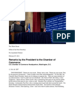 Remarks by President Obama to the Chamber of Commerce