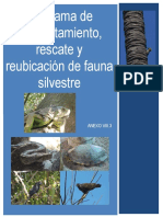 Programa de ahuyentamiento, rescate y reubicación de fauna silvestre