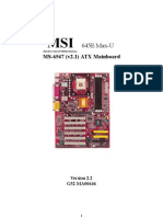MS-6547 (v2.1) ATX Mainboard