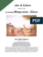 Lieder und Verse vor der Srimad-Bhagavatam-Klasse