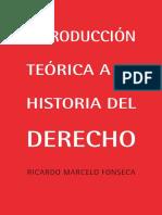 _Introduccion Teorica a la Historia del Derecho autor Ricardo Marcelo Fonseca (avance)