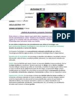 Actividad N° 11 de Educación Tecnológica de 2° Año 2° Division