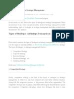 Types of Strategies in Strategic Management