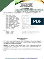 BDC RESOLUTION #4 SUPPLEMENTAL BUDGET