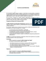 POLÍTICA RETRIBUTIVA EN LA EMPRESA APISOL, S.A.