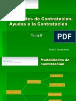 Modalidades de Contratación Tema 8