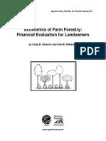 Economics of farm forestry