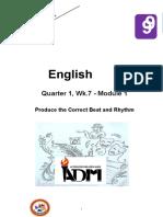 Eng9 Q1 Mod1 ProduceTheCorrectBeat Rhythm v3