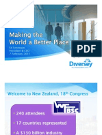 Diversey's Presentation at the WFBSC 2011 World Congress